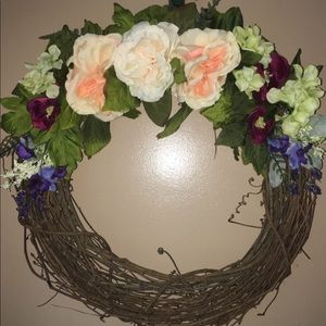 🆕Romantic,Soft Colored Floral Wreath